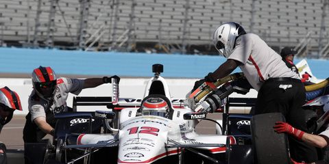 The familiar white, black and red Verizon IndyCar livery will be gone for 2016.