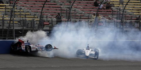 Pack racing at Fontana led to some pretty bad wrecks on Saturday.