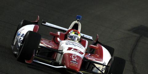 Justin Wilson, shown driving in IndyCar last season, has signed a two-race deal with Andretti Autosport. The deal includes a seat in the Indy 500.