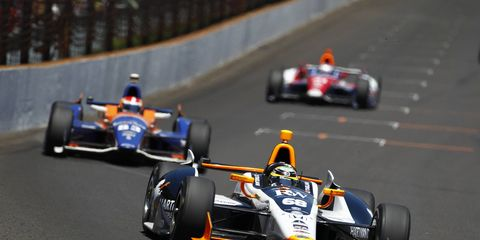 Alex Tagliani, shown racing in 2014, will compete in the Indianapolis 500 for AJ Foyt Racing.