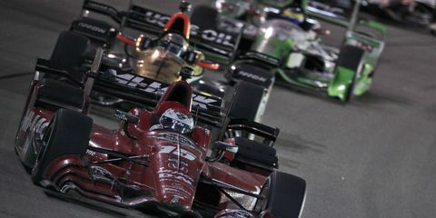 Graham Rahal is hoping to make up some ground on Juan Pablo Montoya in the IndyCar championship race.