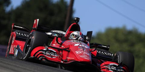 Graham Rahal pulls to within eight points of the Verizon IndyCar Series championship lead with his win for Honda on Sunday at the Mid-Ohio Sports Car Course.
