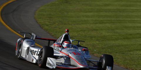 Will Power won Sunday's rain-delayed race at Pocano.