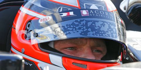 James Jakes, shown racing in 2013, is returning to IndyCar. The driver, who sat out the 2014 season, has signed with Schmidt Peterson Motorsports.