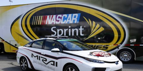 The 2016 Toyota Mirai will lead the field in Richmond on Saturday night.