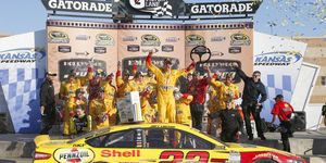Joey Logano made it 2 for 2 in the second round of the Chase with his win at Kansas on Sunday.