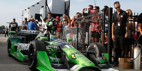 Sebastien Bourdais took the checkered flag for the 34th time in his Indy-car racing career on Sunday.