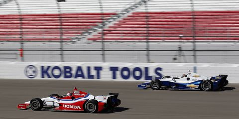 Of the original 23 car makers who competed in the first Indianapolis 500 in 1911, only three still exist, and none of them race in IndyCar. Currently, the only manufacturers that compete in IndyCar are Honda and Chevrolet (pictured).