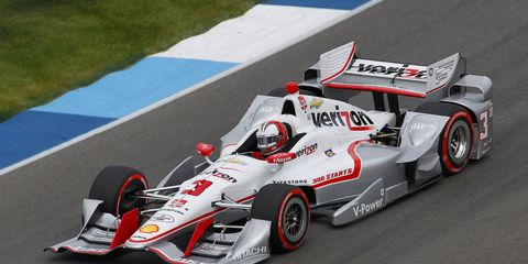 Three-time Indianapolis 500 winner Helio Castroneves turned a fast lap at 227.514 mph on Tuesday at the Indianapolis Motor Speedway.