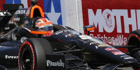 James Hinchcliffe is pushing to bring IndyCar to Calgary.