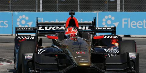 IndyCar driver James Hinchcliffe finished third place Sunday at Toronto. As a native of Ontario, Toronto is basically his home race.