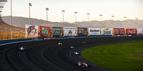 The IndyCar races at Auto Club Speedway in California were action-packed but sparsely attended.