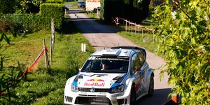 Jari-Matti Latvala's win in France pulled  the Volkswagen driver to within 27 points of the series lead with just two rallies remaining.