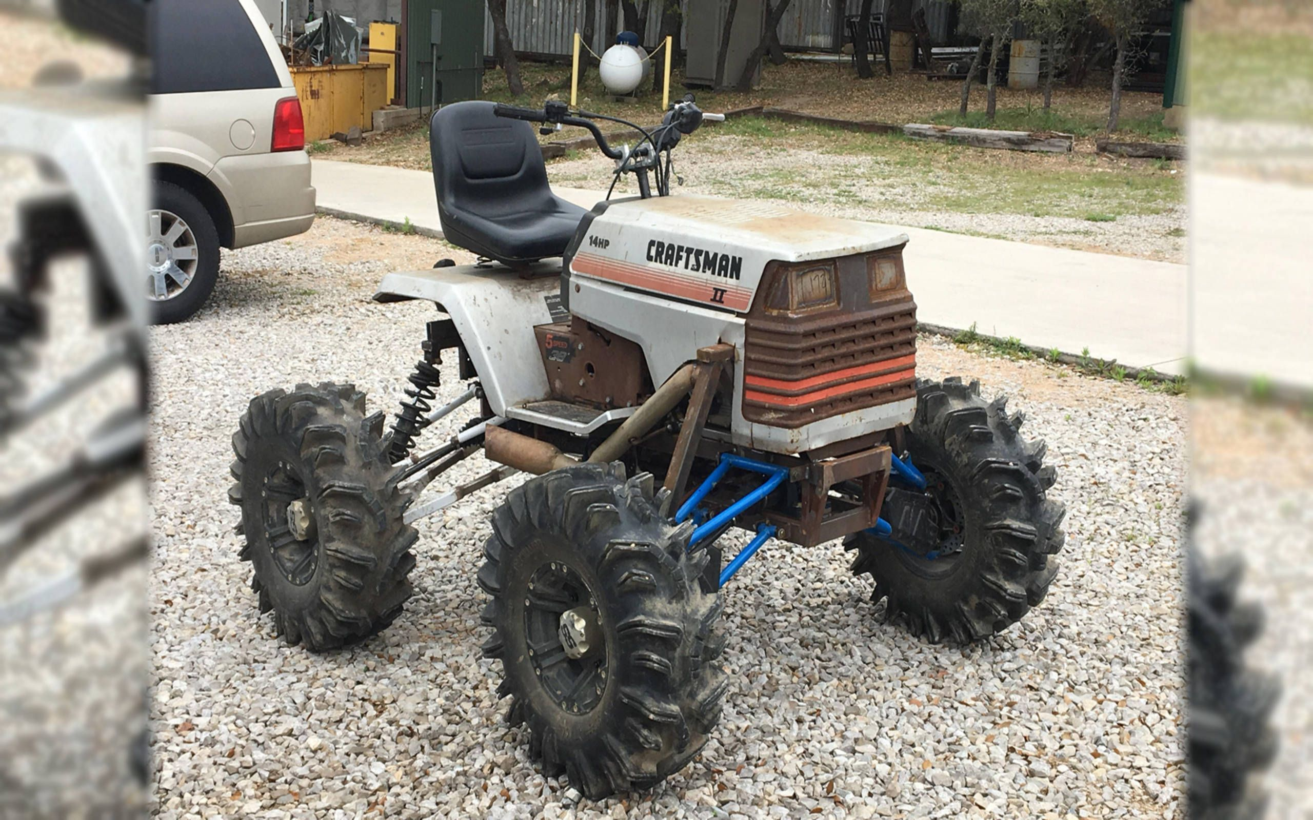 Extreme Yard Care Lifted Lawn Tractors Are A Rabbit Hole Of Diyers
