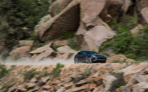 The Macan GTS is the best-handling of the four models in the Macan line. We know, we just drove it up Pikes Peak.