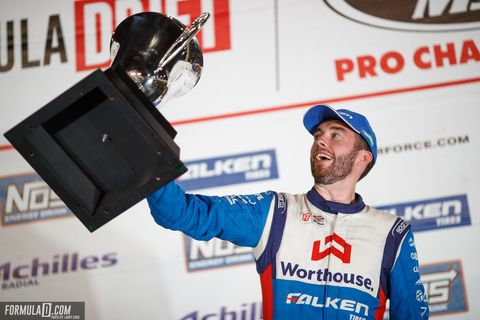 James Deane won the 2018 Formula Drift Black Magic Pro Championship as the sport's 15th season closed out before a capacity crowd at Irwindale Event Center in Southern California.