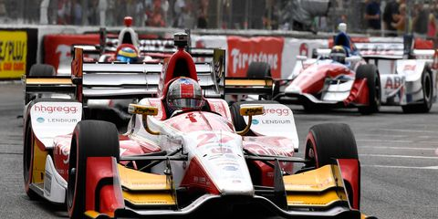 hhgregg's colors and decals were on Andretti's Honda and crew uniforms for the season-opening March 12 Firestone Grand Prix of St. Petersburg.