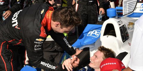 Will Power was proud of teammate Josef Newgarden but wishes lap traffic hadn't disrupted their battle for the win.