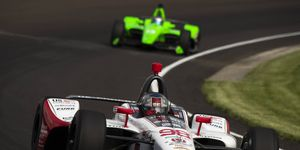 Marco Andretti found a familiar position on Wednesday as fastest at the Indianapolis Motor Speedway.