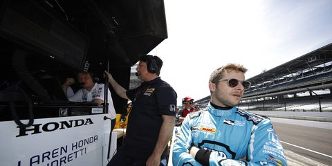 For the third time in his career, Marco Andretti paced Opening Day for Indianapolis 500 practice.
