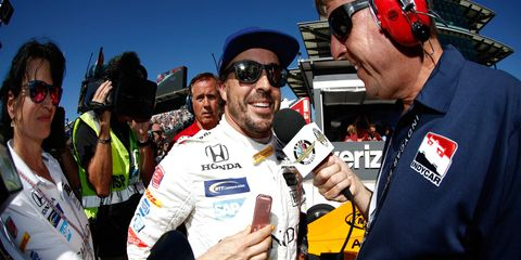 Fernando Alonso will start fifth in his first Indianapolis 500.