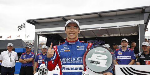 Takuma Sato secured the pole for the second Dual in Detroit at Belle Isle Raceway Park.