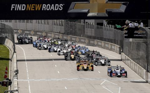 Sights from Sunday's IndyCar Chevrolet Detroit Grand Prix presented by Lear.