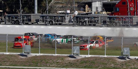 Another day, another major crash at Daytona International Speedway.
