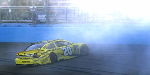 Matt Kenseth was crashed out of the Sprint Cup race on Sunday at Phoenix, and out of the Championship 4 as a result.