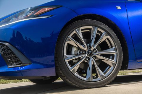 The 2019 Lexus ES350 F Sport adds the Adaptive Variable Suspension system that tightens up the handling as the drive modes get more aggressive.