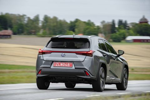 The 2019 Lexus UX cruises down the road pleasantly