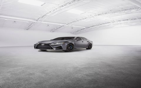 Lexus commemorates 10years of performance cars with special edition RC-F coupes and GS-F sedans.