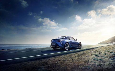 The Lexus LC 500 coupe will also be available as a hybrid with a four-speed automatic transmission.