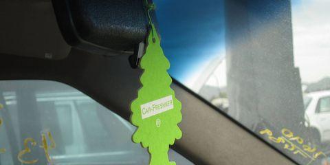 Lime Car-Freshner Little Tree in Newark, California, 2011
