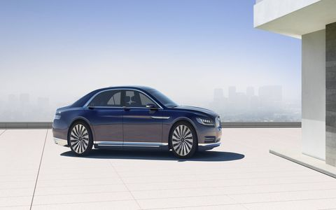 Lincoln revealed a Continental Concept car ahead of the New York auto show.