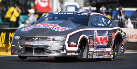 Jason Line's new Summit Chevy is a sleek silver.