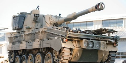 Coming soon to a McDonald's drive-thru near you: this FV433 Abbot 105-mm Self-Propelled Gun, which sold for $89,700.