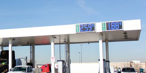 LN filling stations number just over 1,800 nationwide, at a time when gasoline prices are relatively low thanks to domestic shale oil production.