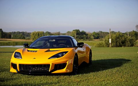 The Lotus Evora 400 now sports an Edelbrock supercharged, 400-hp version of the usually restrained Toyota 3.5-liter V6. It makes 302 lb-ft of torque for increases of 65 hp and 7 lb-ft over the Evora S.