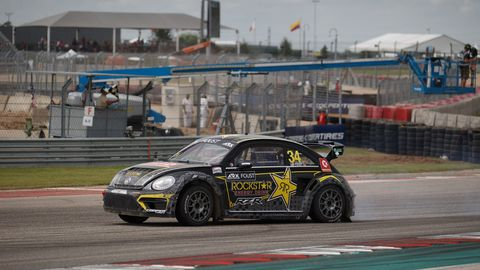 Images of Americas Rallycross action at Circuit of the Americas in Austin, Texas on Sunday. Scott Speed closed out the series' inaugural season with the title.