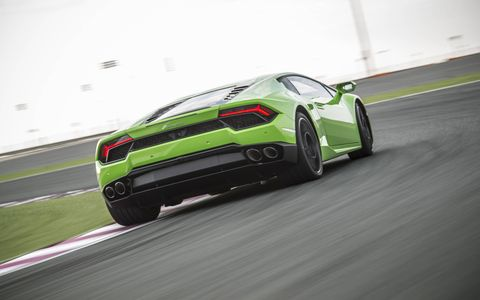 Lamborghini goes back to rear-wheel drive with the new Huracan LP 580-2, coming in March starting at just over 200 grand.