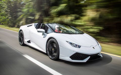 We drive the 2016 Lamborghini Huracan LP 610-4 Spyder, Sant'Agata's newest 5.2-liter V10-powered drop-top.
