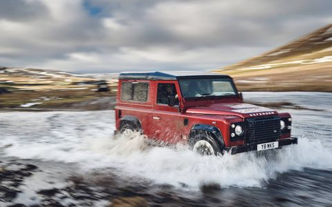 Land Rover will build 'up to' 150 of these luxurious Defender Works V8 trucks in both 90- and 110-inch wheelbase configurations. Combining the Defender's classic looks with modern power, they will be offered through Land Rover Classic -- but not to buyers in the United States.