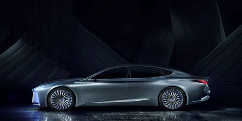 Lexus LS concept is more about technology than design. Although the design isn't lacking at all.