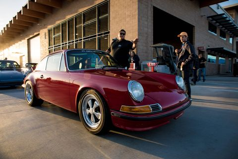 """Luftgekuhlt is a German word that translates as, """"Wow, check out these cool Porsches!"""" This year was the fifth time they've held this unique Porsche experience, and this year they held it at Ganahl Lumber in Torrance, Calif. Why knot? Hundreds of beautiful and some heavily used air-cooled 911s, 356s and some great race cars  made the show."""