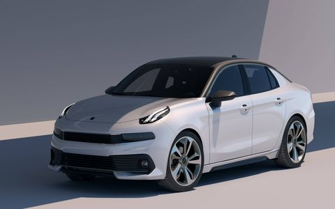 Lynk unveiled a design prototype of its 03 Concept compact sedan ahead of the Shanghai auto show.