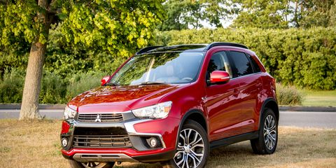 The Outlander Sport is the marque's pocket-sized crossover, positioned below the larger Outlander SUV.