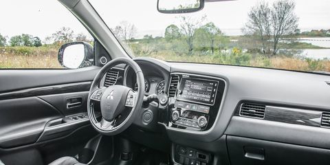 The Outlander offers a lot of standard equipment, though the ride quality is that of an SUV rather than a crossover.