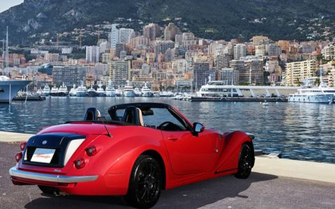 The Himiko consists of a Miata stretched by 26.2 inches at the front, and plenty of custom Morgan-style bodywork.