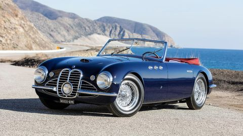 Out of sight for decades and without its original engine, this 1951 Maserati A6G/2000 Spider by Frua was given a money-no-object restoration by the factory.
